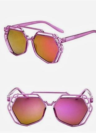 Многоугольные солнцезащитные зеркальные очки хамелеоны