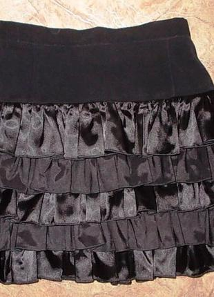 Нарядная черная юбка, размер 38-40