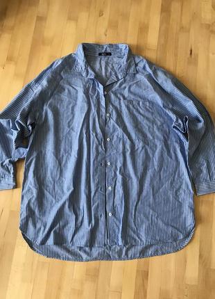 Рубашка оверсайз в полоску от kappahl! p.-xl