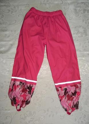 Демисезонные брюки-дождевик lupilu - р. 122-128