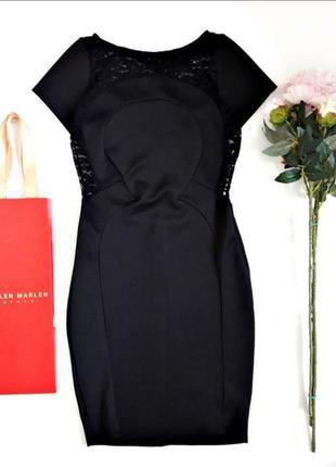 Класичне чорне плаття з красивою спинкою