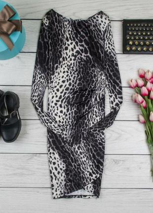 Красиве  леопардове стрейтчеве плаття