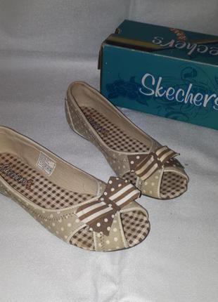 Спортивные брендовые летние босоножки сандали балетки от skechers