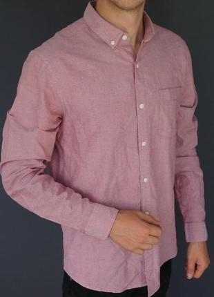 Красивая, розовая рубашка pull & bear,  доступная цена