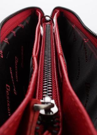 Клатч кожаный женский красный 070 турция7 фото