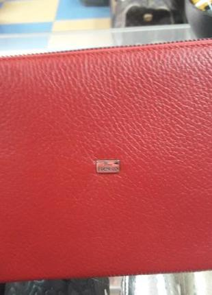 Клатч кожаный женский красный 070 турция2 фото