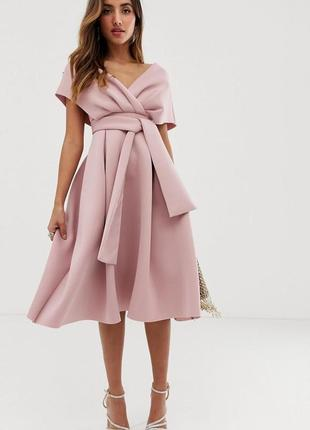 Asos розкішна рожева неопренова сукня