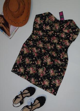 Новое платье бюстье 14 размера topshop