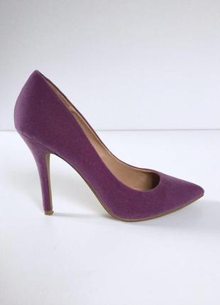 Шикарные бархатные туфли лодочки на шпильке