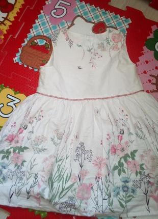 Нарядное платье в цветы9-12мес