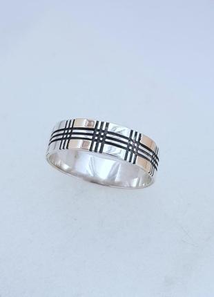 Серебряное кольцо 925 проба с золотом , 21 размер.