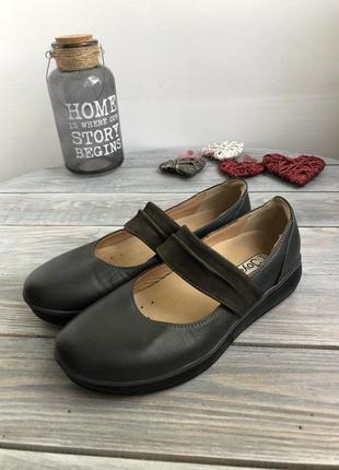 Joya ortholite кожаные туфли на платформе, мокасины2 фото