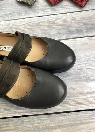 Joya ortholite кожаные туфли на платформе, мокасины5 фото