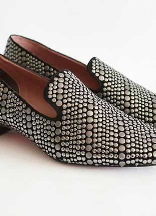 Замшевые туфли-лоферы albano
