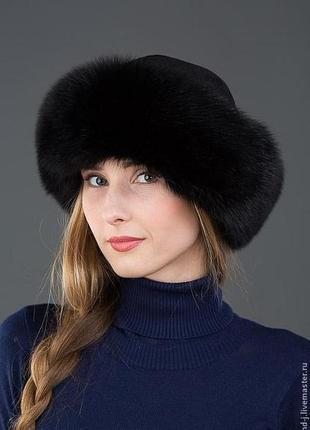 Срочно, распродажа, замшевая шапка из песца, шапка-боярка, шапка песец, sale