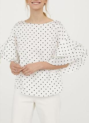 Блузка с оборкой на рукавах h&m