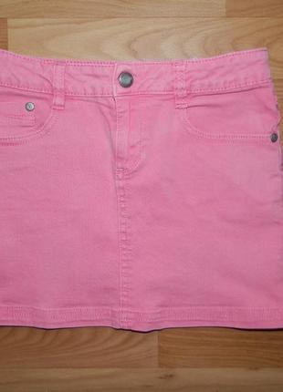 Джинсовая мини-юбка lemmi на р.134-140