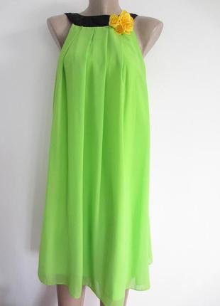 Шикарное шифоновое платье, сарафан dimols (покупалось в европе).