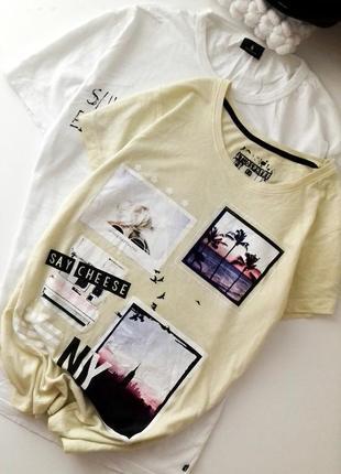 Стильная удлиненная футболка  с принтом atm oversize
