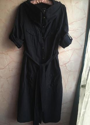 Шёлк +лён. шикарное платье! оригинал!