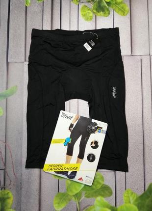 Велоодежда шорты мужские с памперсом черные