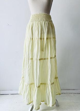 Летняя пляжная юбка 🏖 лимонного цвета 🍋