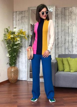 Женский свитер-гольф pronto moda (италия) размер l-xl