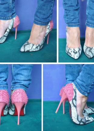 Смелые и утонченные змеиные туфельки5 фото