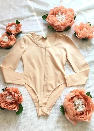 Хлопковый боди нежно-персикового цвета