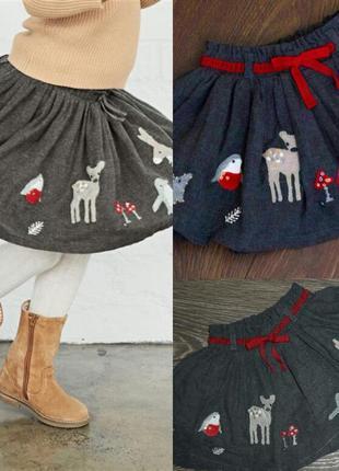 Красивая юбка некст на девочку 12мес