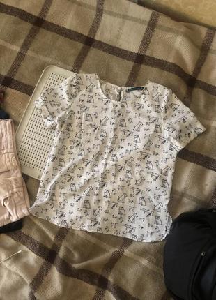 Блуза с принтом собачки