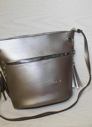 Новая сумка бронза на длинной ручке