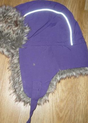Шапка зимняя ушанка 98р. фиолетовая
