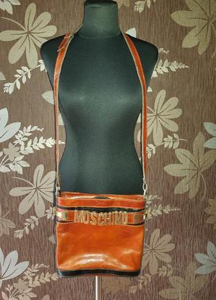 Шкіряна сумка moschino