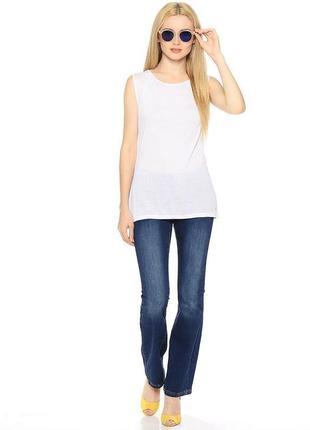 Брендовые женские темно-синие коттоновые джинсы house bootcut бангладеш этикетка