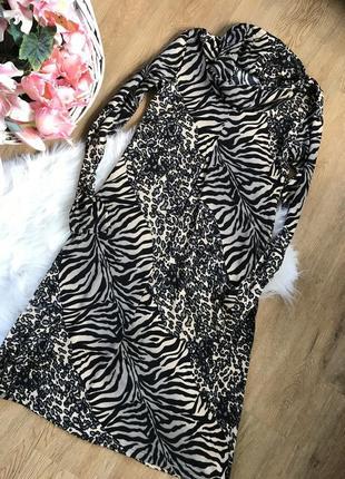 Леопардовое платье на осень а силуэта, тёплое, новое