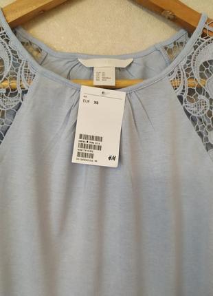 Стильная нарядная нежная майка/футболка с кружевом4 фото