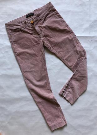 Красивые вельветовые розовые штаны