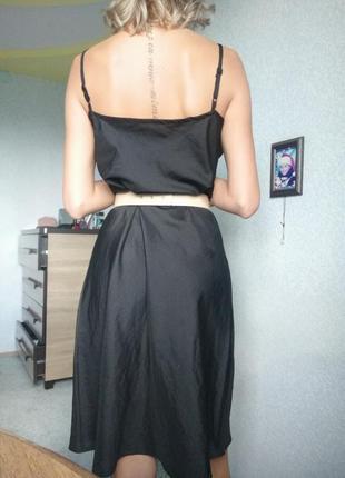 Новое платье шифон xl l большое чёрное длинное сарафан ручная работа