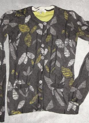 Теплыйшерстяной кардиган кофта laura ashley