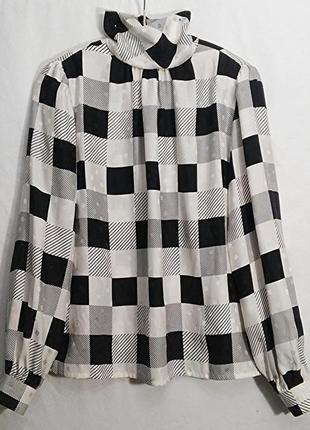 Le gardin de la soie paris, блуза рубашка шелк винтаж, made in france