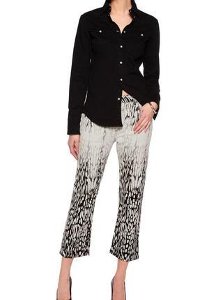 Acne studios джинсы белые зебра