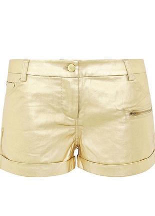 Золотые шорты oggi