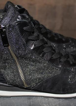 Итальянские кроссовки, ботинки премиум класса hogan.41,5.замша.