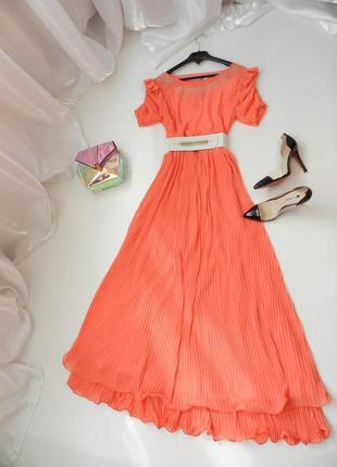 ✅ шифоновое платье в пол с пояском