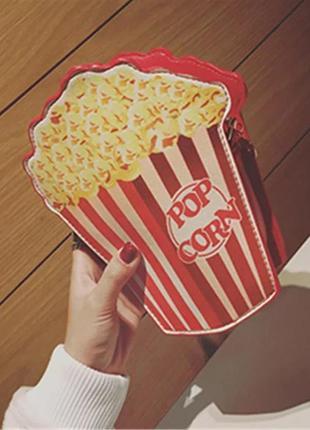Сумка попкорн яркая ретро винтаж