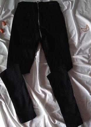 Джинсы черные с молнией сзади