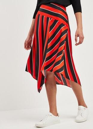 Асимметричная юбка в контрастную полоску f&f,р-р 14