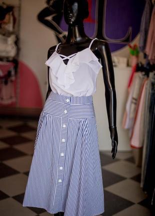 Крутая юбка миди с пуговицами и карманами от wear me