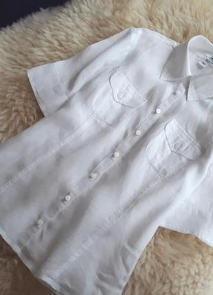 Базовая льняная рубашка h&m